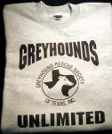 Greyhounds Unlimited Logo Sweatshirt - Click For Enlargement