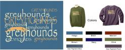 GW: Greyhounds, Multi-Text Sweatshirt - Click For Enlargement